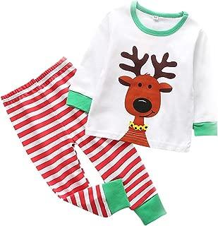 Little Sky Kids Pajamas Set Cotton, Girls Boys PJS Set Long Sleeve T-Shirt with Pants Set
