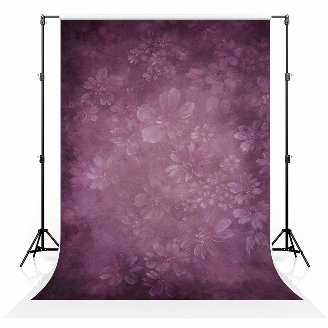Kate Fees free Charlotte Mall 6.5×10ft Abstract Floral Oil Portra Photo Painting Backdrop