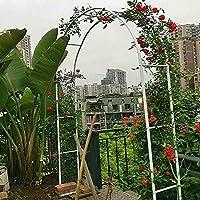 ガーデンアーチ バラ ガーデンアーチ錬鉄製アーチ登山フレームクライミング植物のための屋外耐久の庭の芝生の芝生の芝生の芝居の芝生の芝生のためのフレーム SLTHX (Color : White, Size : 200×40×220cm)