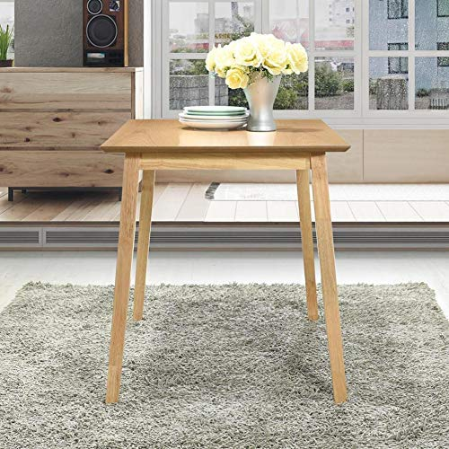 GOLDFAN Oak Dining Table Retro Small Wooden Kitchen Table with Solid Wood Legs for Dining Room Home Lounge,Natural