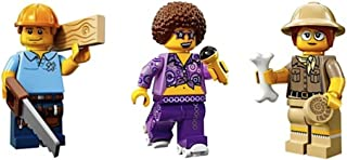 LEGO Carpenter, Roller Disco Diva, Paleontologist Collectible Minifigures Series 13 Custom Bundle 71008