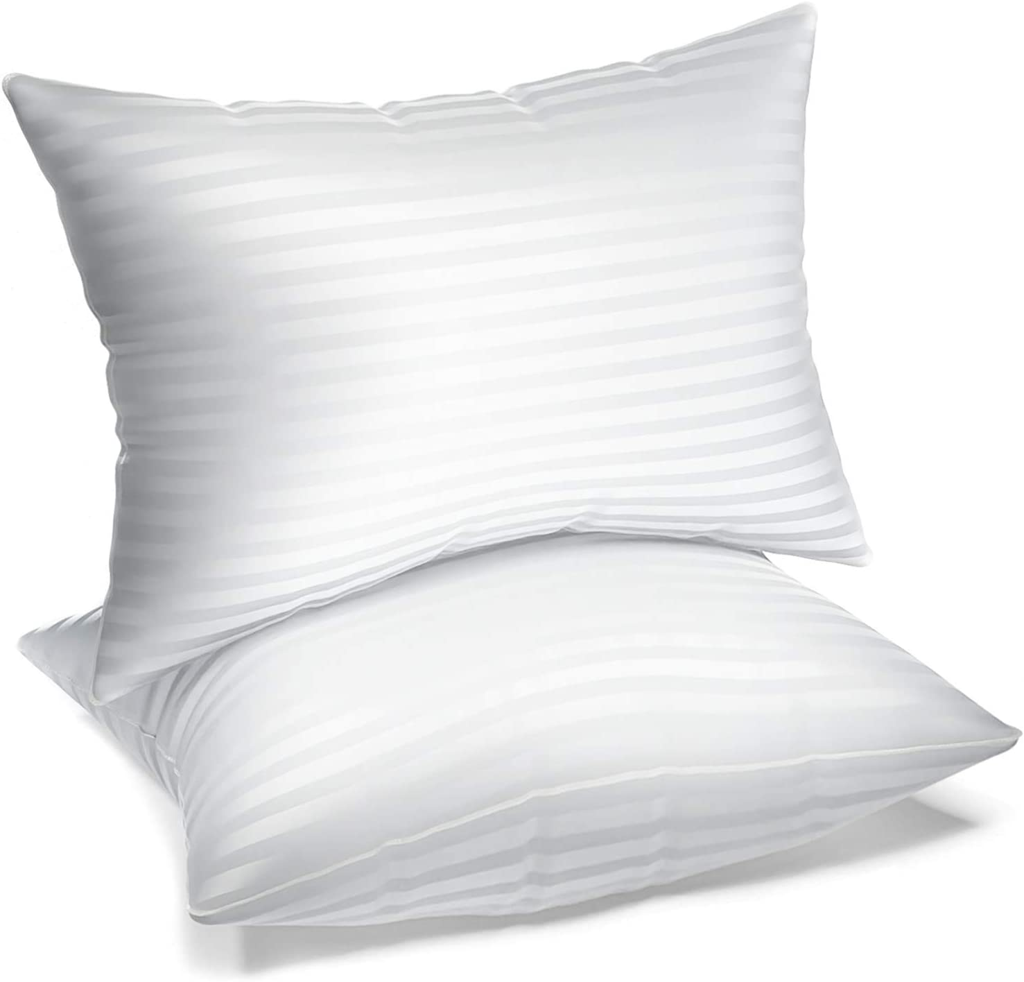 BROOKLUX Inexpensive Home Hotel Collection Gel Sleeping Pillows Gorgeous Set for -