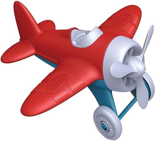 Green Toys Airplane - BPA Free, Phthalates Free, Red Aero Plane for Improving Aeronautical Knowledge of Children. Toy...