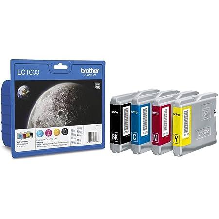 Brother Tintenpatronen Value Pack Viererpack Farbe Cyan Gelb Magenta Schwarz Für Lc1000 Bürobedarf Schreibwaren