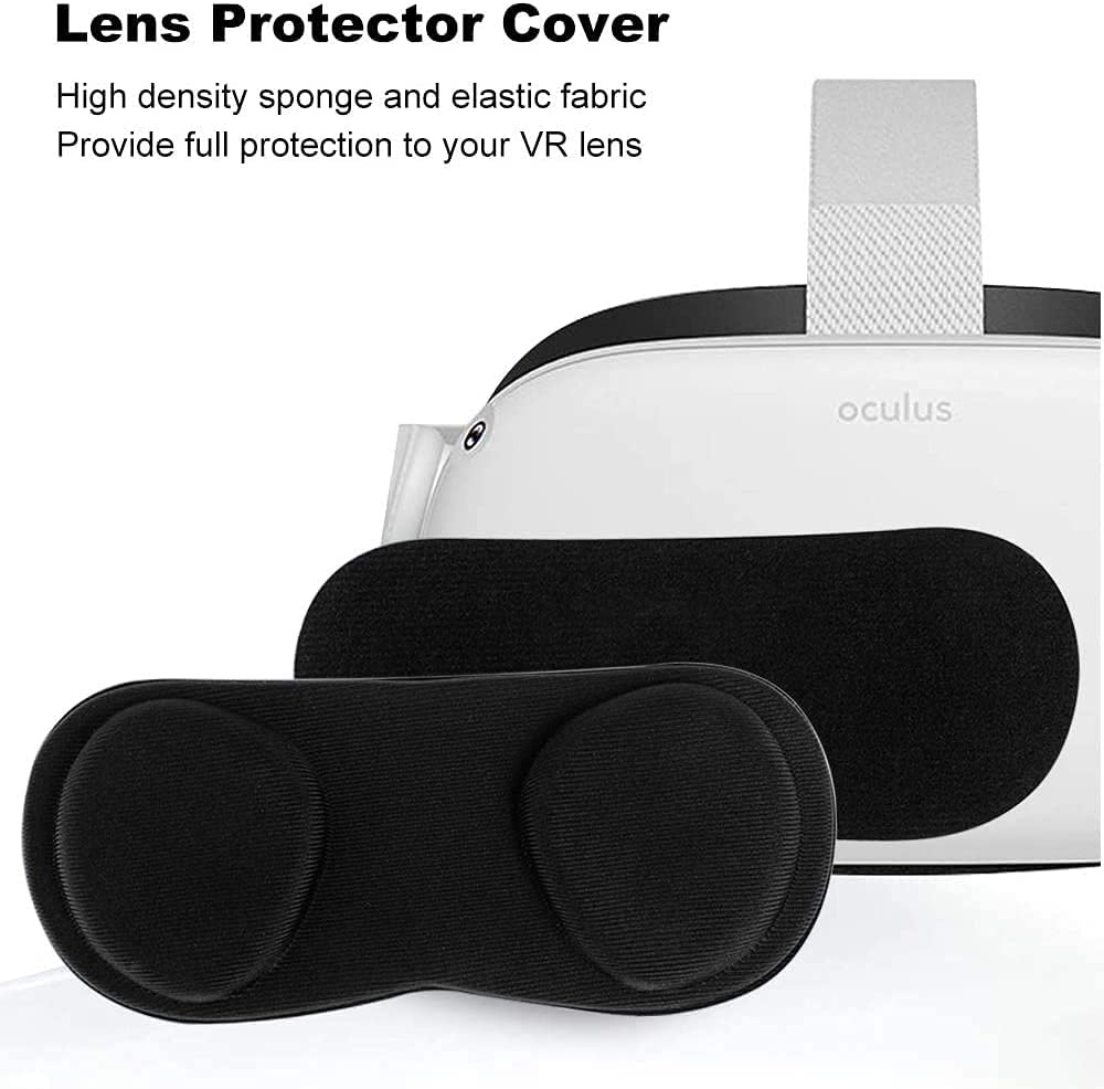 CONNYAM VR Face Cover and Lens Cover for Oculus Quest 2, Sweatproof Silicone Face Pad Face Cushion for Oculus Quest 2 VR Headset