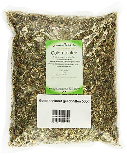 Naturix24 Goldruten Tee, Goldrutenkraut geschnitten – Beutel, 3er Pack (3 x 500 g)