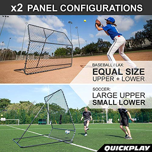 QUICKPLAY PRO Rebounder 3x3' Adjustable Angle Multi-Sport Trainer | Soccer Rebounder or Baseball & Softball Pitch Back | Ideal for Team and Solo Training