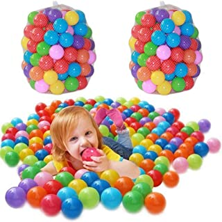 500 pcs Free BPA Crush Proof Plastic Ball Pit Balls Colorful Fun Soft Plastic AirFilled Ocean Ball Palyballs for Baby Chil...