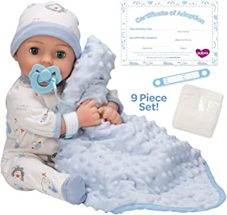Adora Adoption Baby boy Handsome - 16 inch Newborn Doll, with Accessories and Certificate of Adoption