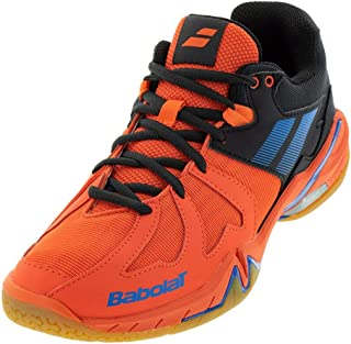 Babolat Mens Shadow Spirit Badminton/Racquetball/Squash Shoes - Black/Red
