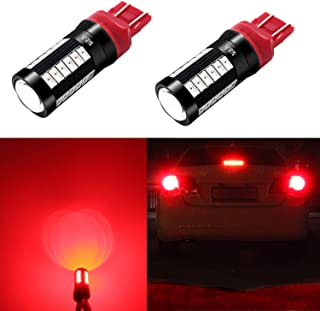 Alla Lighting 2800lm 7440 7443 LED Bulbs Pure Red Xtreme Super Bright 5730 33-SMD Car Turn Signal,Brake Stop Lights TailLights T20 7441 7442 7444NAK