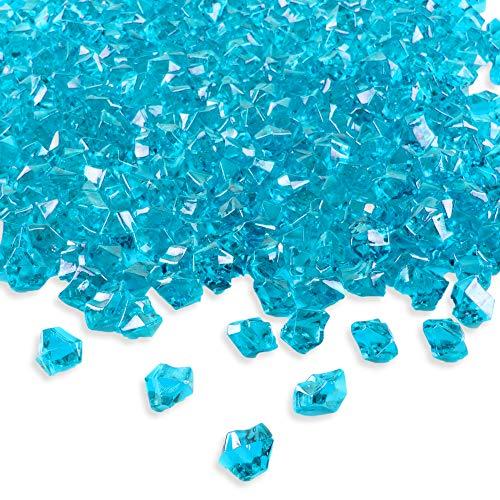 Color de acrílico Ice Rock cristales gemas de tesoro para mesa Scatters,...