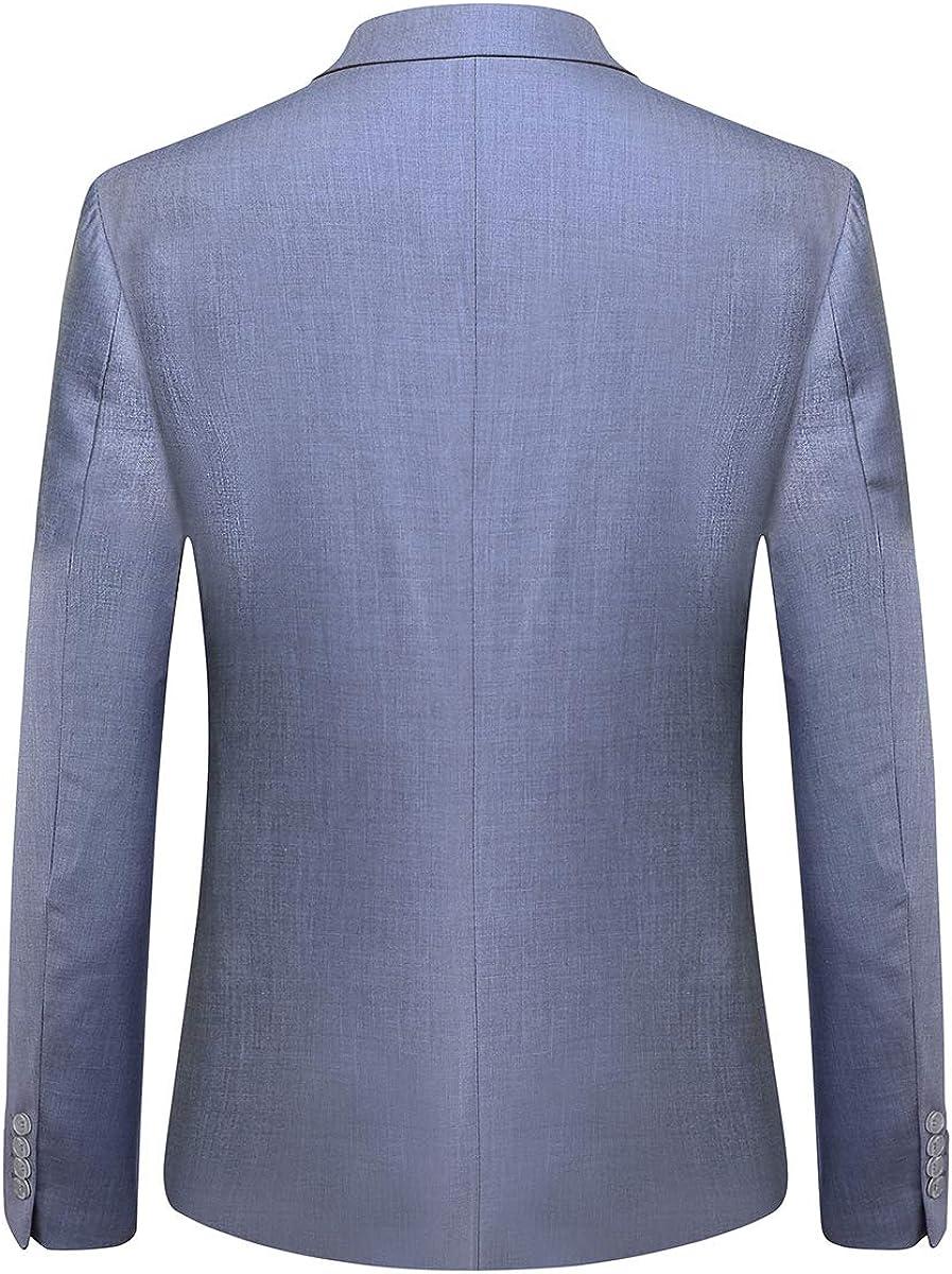 YOUTHUP Herren 2 Teilig Anz/üge Slim fit Business Anzug 1-Knopf Anzugjacke mit Anzughose