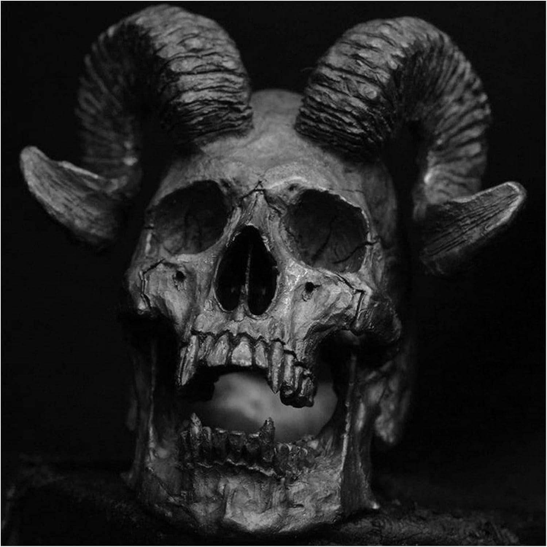 JIAH Ring Max 54% OFF Unique Punk Gothic Satanic Demon Skull Oklahoma City Mall Ram Head M