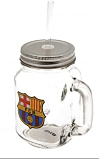 Authentic FC Barcelona Mason Jar Drinking Glass - Official FC Barcelona Product - Great Gift for Club Fans - Men and Women Love This Mug