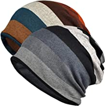 Paladoo Chemo Caps Cancer Headwear Infinity Scarf for Women (2 Pack Stripe A)