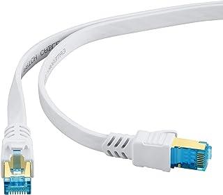 HUANGTAOLI Cavo di Rete Ethernet 15 Metri, Cat 8 Cavo di Rete Patch Gigabit Lan SFTP con Connettori RJ45 Placcati in oro A...