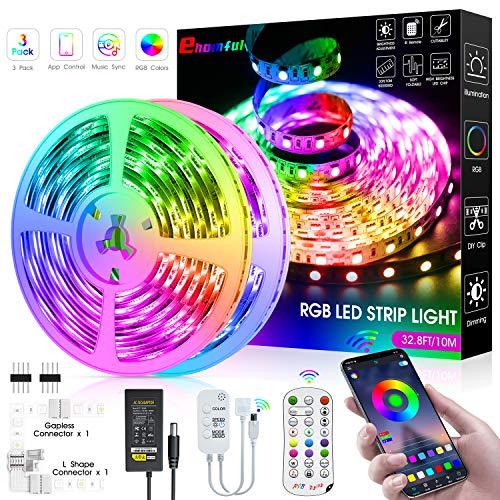LED Strip Lights,32.8ft Color Changing LED Light Strip Kit with 24Key...