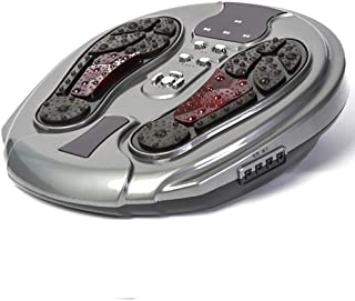 調整可能 フットマッサージ機、電気指圧式フットマッサージャー(熱、空気圧縮、足用マッサージおよび家庭用およびオフィス用) リラックス, gray