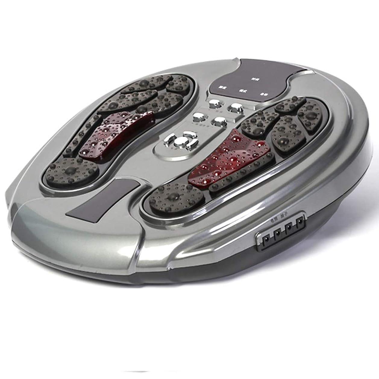 ベアリング反動バーガー調整可能 フットマッサージ機、電気指圧式フットマッサージャー(熱、空気圧縮、足用マッサージおよび家庭用およびオフィス用) リラックス, gray