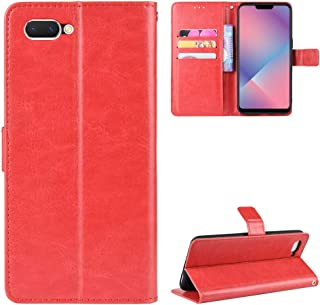 Jeteu-case HD Case for OPPO A3S Case Flip leather + TPU Silicone fixing Cover 3