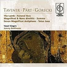 Tavener Part Gorecki