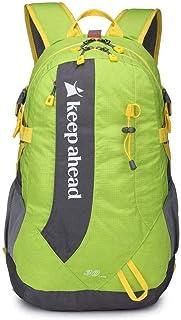 Zengzhijie mochila ultraligera plegable impermeable de viaje senderismo mochila conveniente plegable camping al aire libre mochila bolsa (color: B)