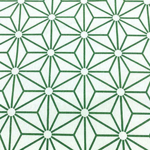 Kt KILOtela Tela de loneta Estampada - Retal de 300 cm Largo x 280 cm Ancho | Perfil Diamante - Verde, Blanco ─ 3 Metros