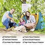 Camplux CE-zertifiziert Gasdurchlauferhitzer mit Regenkappe - 3