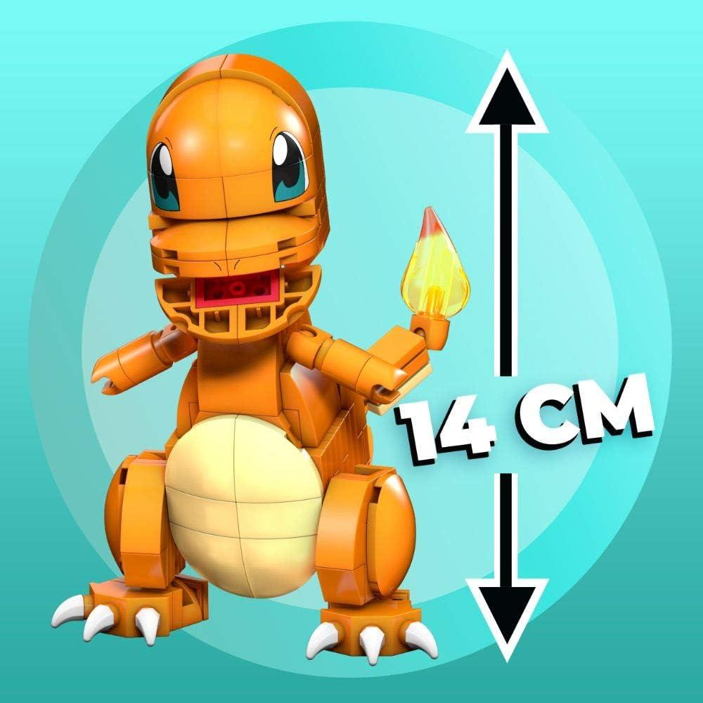 Mega Construx GMD31 - Pokémon Medium Pikachu (10cm), Bauset mit beweglicher Figur, Spielzeug ab 7 Jahren Glumanda