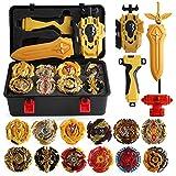 mingliang 12 Piezas/Juego De Battle Tops Case Toy, Fighting Burst Gyro Caja De Almacenamiento Portátil Duradera Lanzador Maleta
