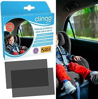 Película Protetora Solar Carro - Kit 2 Unid, Clingo, Fumê