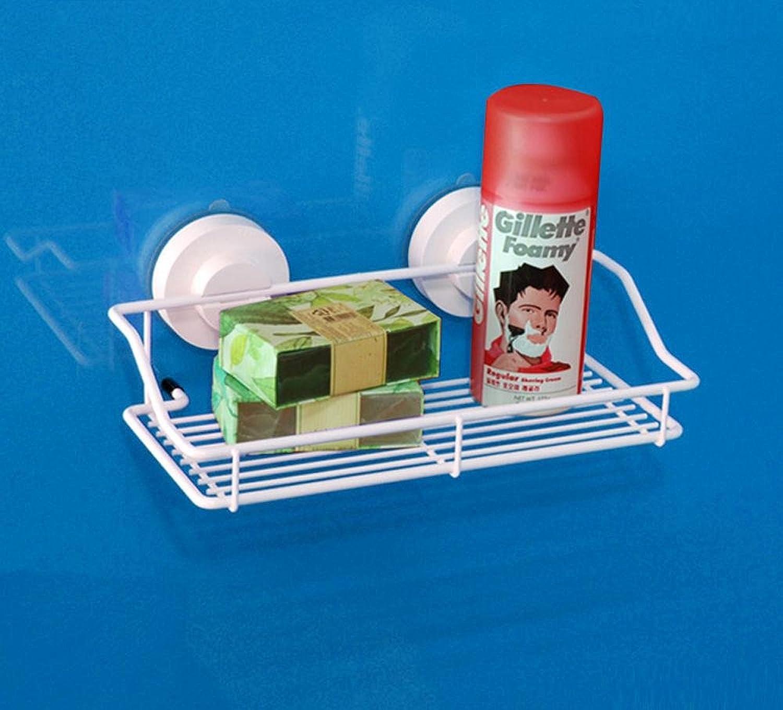 KHSKX Fashion suction-cup bathroom shelves, strong toilet shelves, bathroom wash