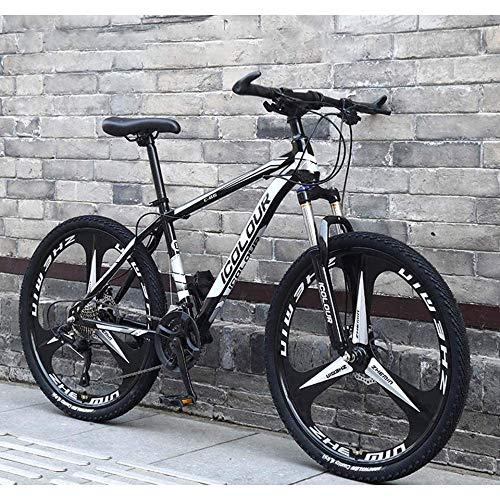 Bicicleta De Montaña para Adultos 26 Pulgadas, Marco De Resorte Completo De Aluminio Ligero, Tenedor De Suspensión, Freno De Disco,24speed