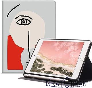 NeatClean ipad 9.7 ケース ペンシル収納 軽量 薄型 ipad air3 ケース pencil 収納 ipad air10.5 ケース iPad pro11 ケース 2018 iPad 第六世代 9.7 ケース a1893 a1954 iPad 第五世代 9.7 ケース a1822 a1823 iPad mini5 ケース mini4ケース mini3ケース mini2ケース miniケース ipad Air3ケース Air2ケース Airケース 手帳型 アイパッドカバー ipad 9.7 ケース ペンシル ipad pro10.5 ケース おしゃれ ipad 第5/6世代 9.7インチ 耐衝撃 二つ折り スタント ペン収納 アイパッドケース 背面透明 三つ折り 魅力的 おもしろ オシャレ 水彩 イラスト 顔 個性的(iPad 2017/2018 9.7inch,c柄)