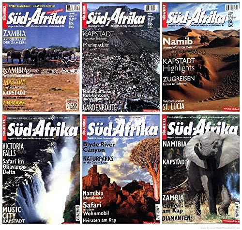 Süd-Afrika - Magazin für Reisen, Wirtschaft und Kultur im südlichen Afrika. Jahrgänge 2000 & 2001 komplett (6 Hefte)