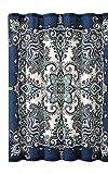 Instabul Duschvorhang-Set mit 12 Rollen Kugelhaken (blau)