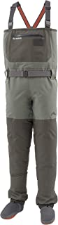 Simms Freestone Stockingfoot Waders for Men – 4 Layer Waterproof Chest Waders with Gravel Guards – Breathable Fishing Stocking Foot Waders – Fleece Lined Pockets & Fly Patch