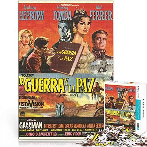 Puzzle d'affiche de film Décompression intellectuelle guerre et paix ver4 75x50cm en bois grand 1000 pièces Puzzle d'art à collectionner classique