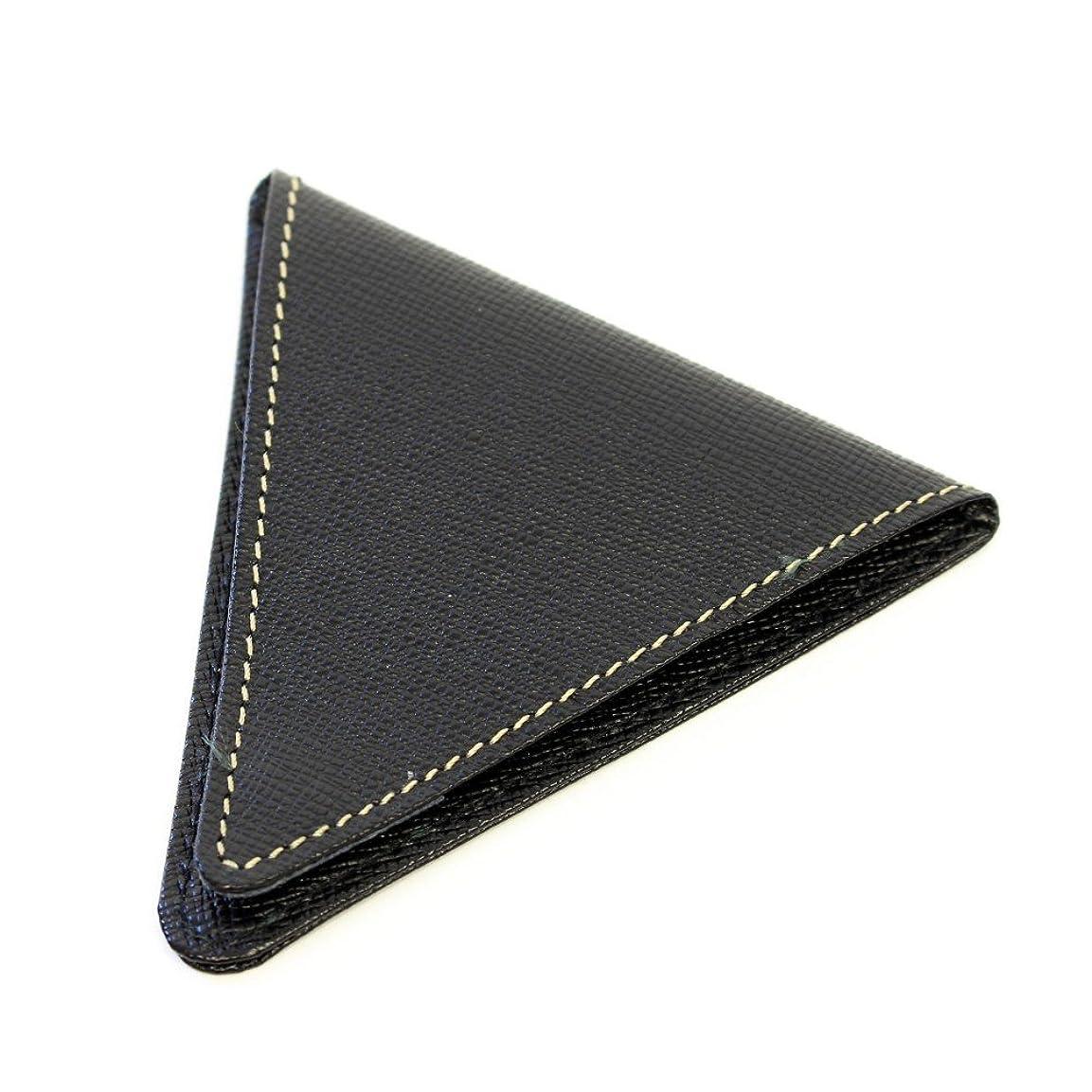 制限されたきつくプロペラさいふ 財布 上質な日本製の、牛革を使用 お洒落 8mm コインケース ブラック