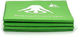 Colchoneta de Yoga portátil Plegable Antideslizante Estera de Ejercicio físico para Viajes 176x61x0,3 cm Libre de ftalatos y látex (Verde)