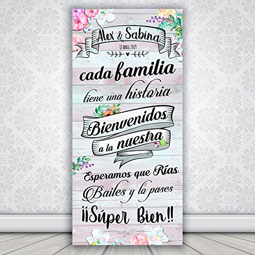 Decoración Boda | Cartel Boda Wedding Love | 70cm x 150cm
