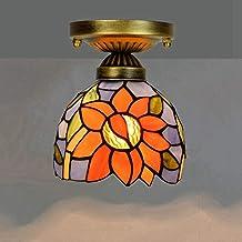 معدات إضاءة الممر الزجاجي الملوَّن بسقف صغير لممر الشرفة، 6 بوصات، عباد الشمس (اللون: عباد الشمس)