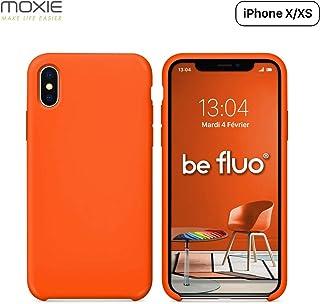 coque iphone xs silicone orange