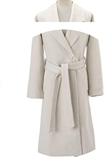 Fall Winter Cashmere Look Robe Belted Coat Woolen Outerwear Manteau Femme Abrigos Mujer