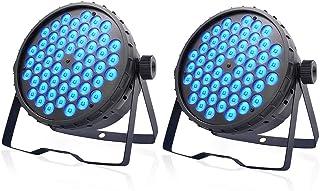 SevenStars DJ Par Lights, 54x3W LED Par Light for Stage Lighting, RGB Sound Activated and DMX Control Stage Light, for Wedding, Party, Concert, Festival- 2 Pack