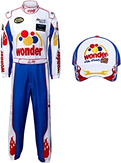 Adult Ricky Bobby Nascar Racing Jumpsuit Cap Hat Suit Set Talladega Nights Full Costume Halloween Party Props