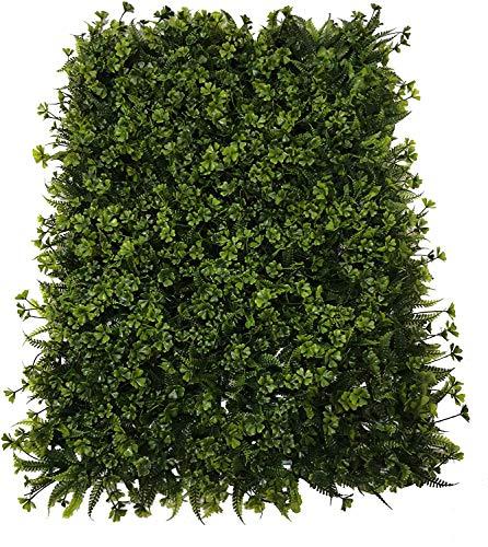 Plancha Alfombra de Césped Artificial 60 * 40cm Jardín Vertical Decoración Interior Pared Hierba (Tréboles)
