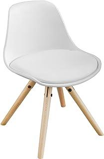 SoBuy® FST46-W Chaise Enfant Confortable Chaise Pour Enfants Assise Rembourré haute qualité(34x34x56 cm) - Blanc