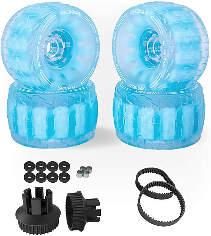 IWONDER Cloud Wheel Discovery 105//120mm for Backfire Boards Patented Damping Foam Core All Terrain Off Road Skateboard Wheels and Pulley Conversion Kit
